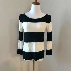 J. Crew Black/White Crewneck